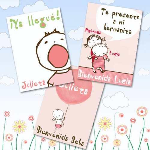 84408392ba Tarjetitas para souvenirs de bebé con fotos del bebé - Imagui
