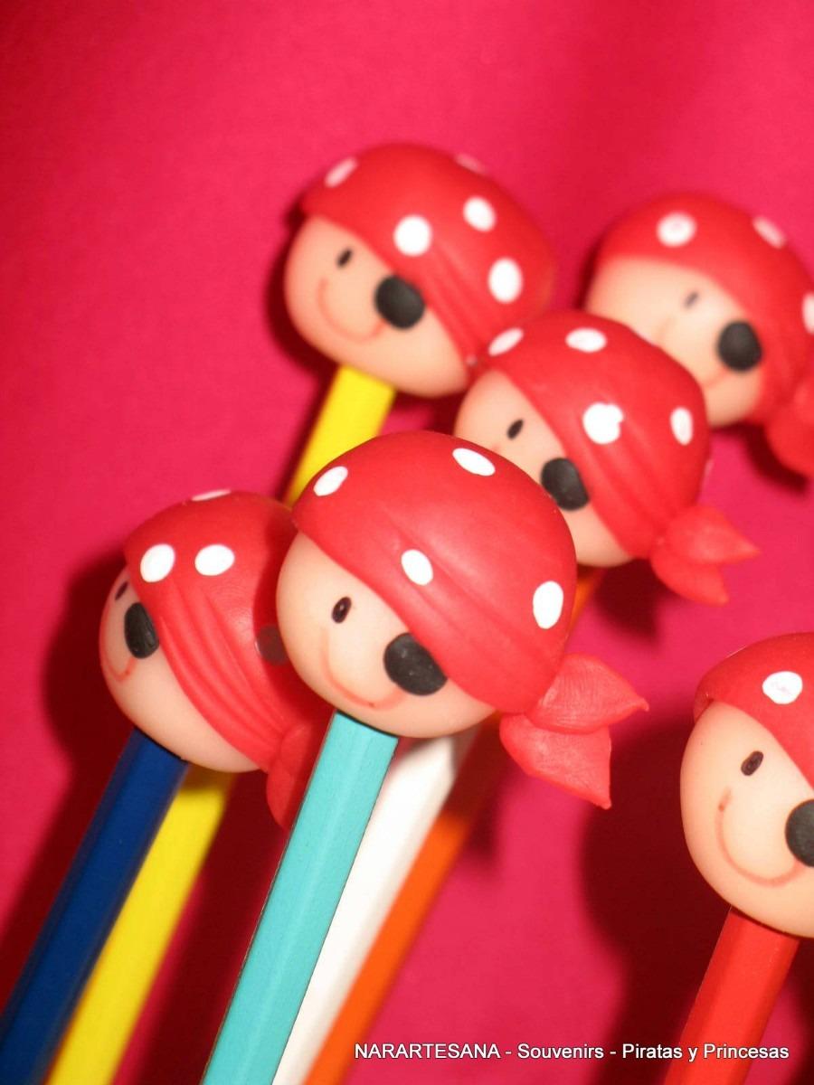 10 Souvenirs Cabecitas Piratas Y Princesas En Porcelana Fría ...
