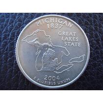 U. S. A. - Michigan, Moneda D 25 Centavos (cuarto) Año 2004