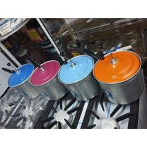 Pochoclera Color Familiar Olla Aluminio Para Pop Corn Grande