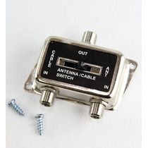 Selector Switch Antena 2en1 Llave Corredera Tv Cable Coaxil