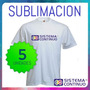 Remeras De Hombre Sublimables Polyester Sublimacion X 5u Xxl