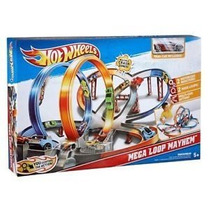 Mega Pista De Choques Motorizada Hot Wheels!