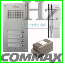 Kit Portero Commax 3 Internos Frente 4um + 3 Tel Ss + Fuente