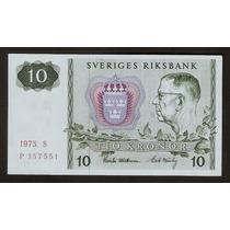 Suecia 10 Kronor Año 1975 Sin Circular