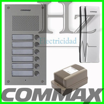 Kit Portero Commax 6 Internos Frente 6um + 6 Tel Ss + Fuente