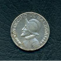 Moneda Panamá 1934 1/10 Balboa Km#10.1 (plata)