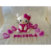 Hello Kitty Adorno Para Torta En Porcelana Fria