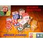 Dados Madera Abc Block Cubo Numeros Letras Juguete Didactico