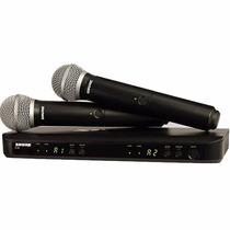 Microfono Inalambrico Shure Blx288ar/pg58h8 De Mano Pg58 X 2