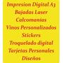 Bajada Laser - Impresion Digital A3 - Stamping Troquelado