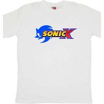 Remeras Estampadas Sonic X!!! Niñosy Adultos Regalos!