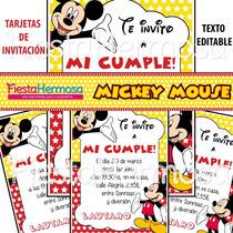 Mickey Mouse, Candy Bar, Cajitas, Souvenirs, Tarjetas