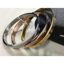 Esclavas Cartier Con Tornillos Y Swarovski Y Modelo Cinturon