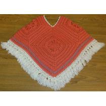 Poncho Tejido A Mano Crochet Con Y Sin Flecos - Envios!
