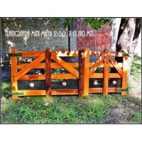Tranquera-porton Maya Mini -madera Dura ,exteriores,jardin