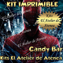Kit Imprimible Candy Bar Golosinas Spiderman Hombre Araña