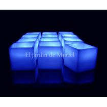 12 Centros De Mesa Cubos Led De Parafina 6cm X 6cm