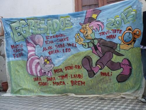 Banderas de egresados carteles y letreros a ars 700 en for Banderas decorativas para jardin