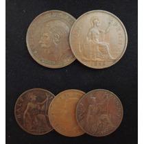 Monedas Half Penny, One Penny - Gran Bretaña (1903-1945)
