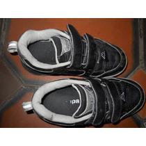 Zapatillas Kappa Negras Cuero Nene 28 Colegiales