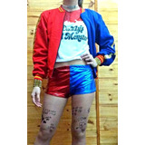 Combo Cosplay Completo De Harley Quinn Suicide Squad