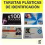 Credenciales De Pvc Tarjetas Plasticas Identificacion