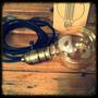 Portalampara Vintage Metalico + Foco G95 + 3m Cable Tela.