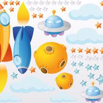 Vinilos Decorativos Infantiles. Mirando Planetas