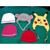 Gorrito Lana Tejido A Mano A Crochet Niñas