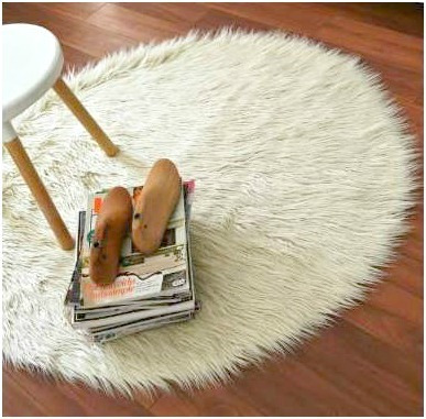 Alfombra carpeta redonda piel sint tica pelo largo - Alfombras de pelo largo ...