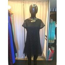 Sale !! Vestido Remeron De Encaje Forrado Con Mangas