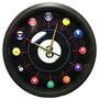 Reloj Pared 30cm !! Diseño Exclusivo Billar Pool .- Tu Foto