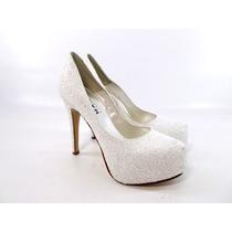 Zapatos Stillettos Mujer Brillo Plataforma Magali Shoes