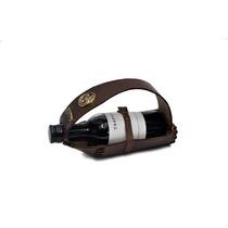 Portavino Cuero Talabartero C/ Botella De Vino.regalo,souven