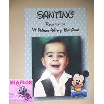 30 Souvenirs Imanes Con Foto Mickey Y Minnie Bebe 7 X 10 Cm