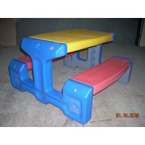 Mesa Infantil Con Bancos Plastica Marca Brinquedos