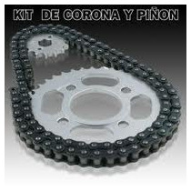 Transmision Corona Piñon Y Cadena Zanella Zb110 Mod G4