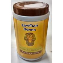 Henna Egyptian Polvo Pote X500g Tonos Marrón Castaño Dorado