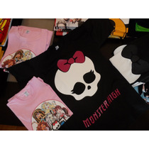 Remeras Estampadas Monster High Frankistein Dracu Laura