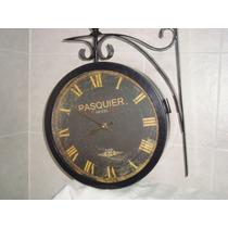 Reloj -pasquier Hotel- Doble Faz - Metal -