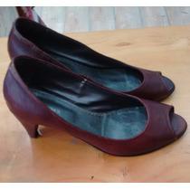 Zapatos 39 Peep Toe, Un Solo Uso