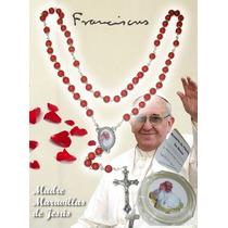 Rosario Pétalos De Rosa Papa Francisco Europa Único + Regalo
