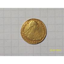 Potosi 1 Escudo Oro 1808 3,5 Gr 18 Mm Rarisima