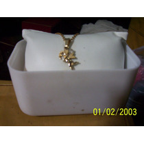 Cadenita Cupido Oro 14 Con Svarowsky