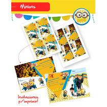 Invitaciones De Minion O Mi Villano Favorito P/imprimir!