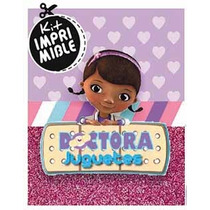Kit Imprimible Doctora Juguetes Candy Bar - Texto Editable