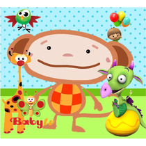 Kit Imprimible Baby Tv - Tarjetas Cumples Con Foto