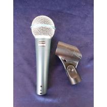 Microfono Shure Beta 58a Con Cable Soporte Y Funda Cuero