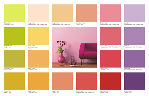 Pintura latex interior lavable en colores recuplast 1 - Pintura interior colores ...